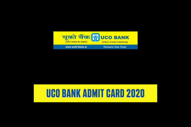 UCO Bank Admit Card 2020